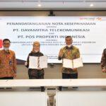 PT Pos Properti Indonesia dan PT Dayamitra Telekomunikasi MoU Sumber Daya